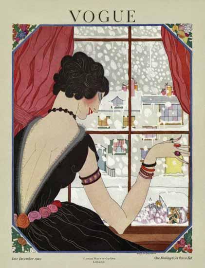 Helen Dryden Vogue Cover 1920-12-15 Copyright | Vogue Magazine Graphic Art Covers 1902-1958