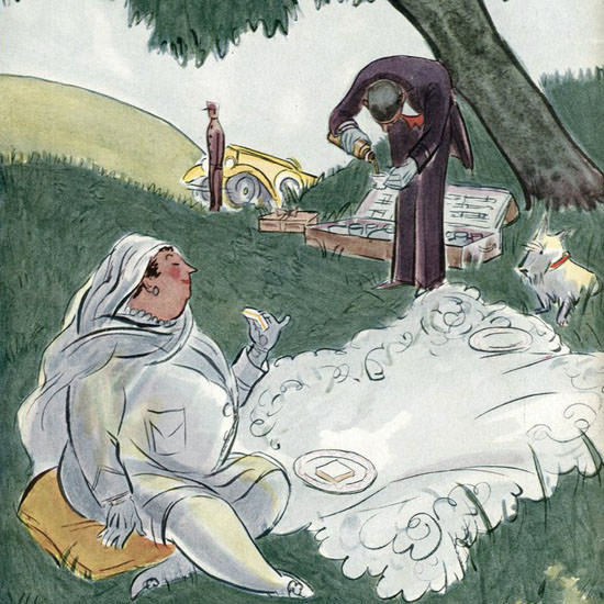 Helen E Hokinson The New Yorker 1927_08_20 Copyright crop | Best of 1920s Ad and Cover Art