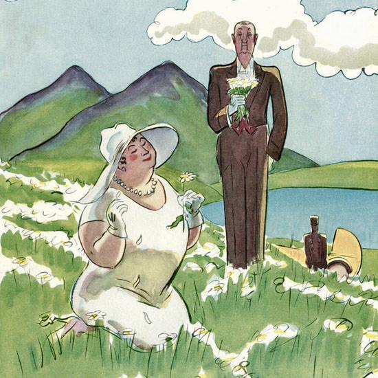Helen E Hokinson The New Yorker 1928_05_26 Copyright crop | Best of Vintage Cover Art 1900-1970