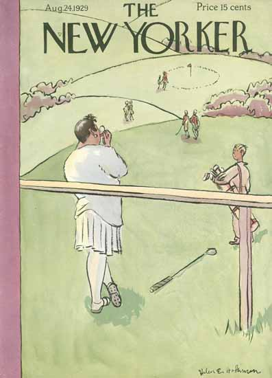 Helen E Hokinson The New Yorker 1929_08_24 Copyright   The New Yorker Graphic Art Covers 1925-1945