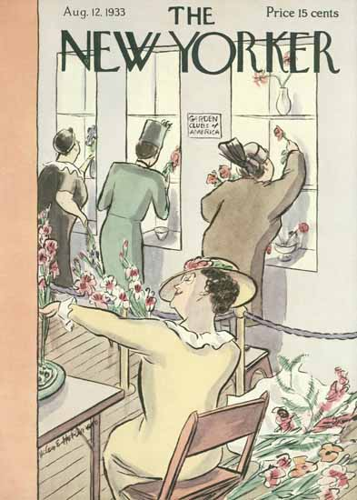 Helen E Hokinson The New Yorker 1933_08_12 Copyright | The New Yorker Graphic Art Covers 1925-1945