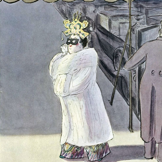 Helen E Hokinson The New Yorker 1936_01_11 Copyright crop | Best of Vintage Cover Art 1900-1970