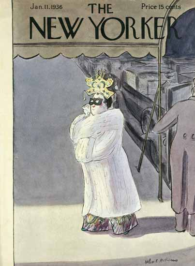 Helen E Hokinson The New Yorker 1936_01_11 Copyright | The New Yorker Graphic Art Covers 1925-1945