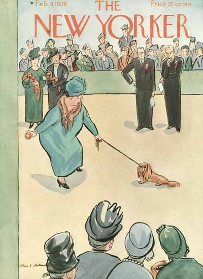 Helen E Hokinson The New Yorker 1936_02_08 Copyright | The New Yorker Graphic Art Covers 1925-1945
