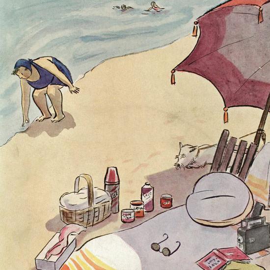 Helen E Hokinson The New Yorker 1937_08_14 Copyright crop | Best of Vintage Cover Art 1900-1970
