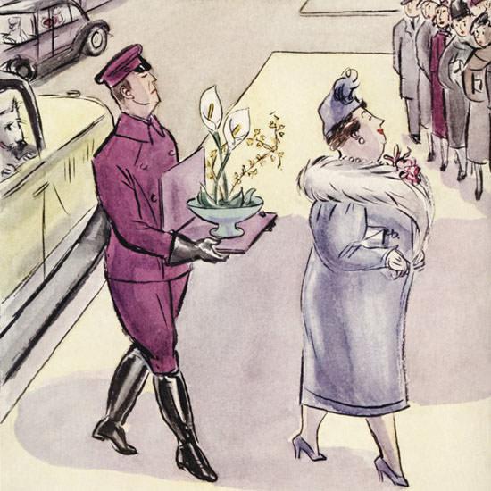 Helen E Hokinson The New Yorker 1940_03_16 Copyright crop | Best of Vintage Cover Art 1900-1970