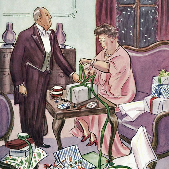 Helen E Hokinson The New Yorker 1940_12_14 Copyright crop | Best of Vintage Cover Art 1900-1970