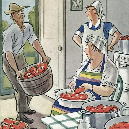 Helen E Hokinson The New Yorker 1944_09_16 Copyright crop | Best of Vintage Cover Art 1900-1970