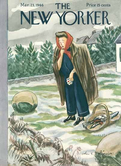Helen E Hokinson The New Yorker 1946_03_23 Copyright | The New Yorker Graphic Art Covers 1946-1970