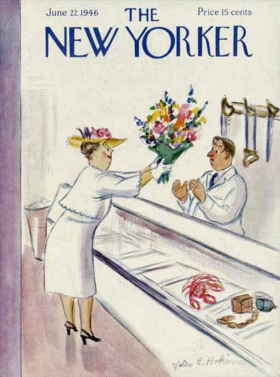 Helen E Hokinson The New Yorker 1946_06_22 Copyright | The New Yorker Graphic Art Covers 1946-1970
