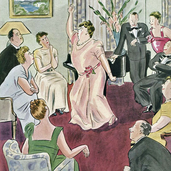 Helen E Hokinson The New Yorker 1947_02_08 Copyright crop | Best of Vintage Cover Art 1900-1970