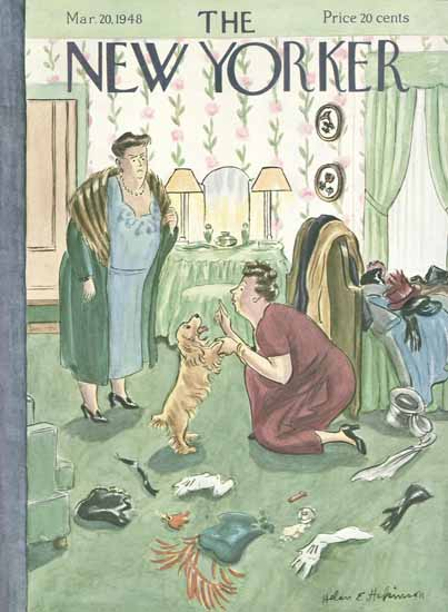Helen E Hokinson The New Yorker 1948_03_20 Copyright | The New Yorker Graphic Art Covers 1946-1970