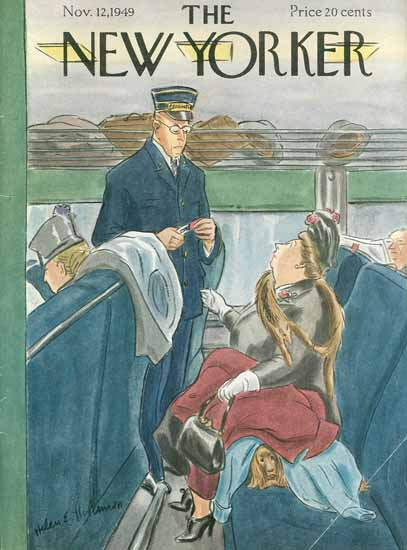 Helen E Hokinson The New Yorker 1949_11_12 Copyright | The New Yorker Graphic Art Covers 1946-1970