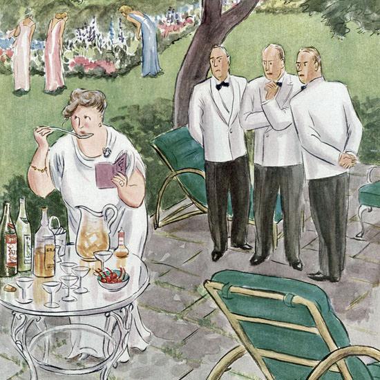 Helen E Hokinson The New Yorker 1951_06_23 Copyright crop   Best of Vintage Cover Art 1900-1970