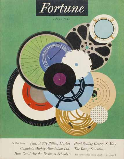 Helen Federico Fortune Magazine June 1954 Copyright | Fortune Magazine Graphic Art Covers 1930-1959