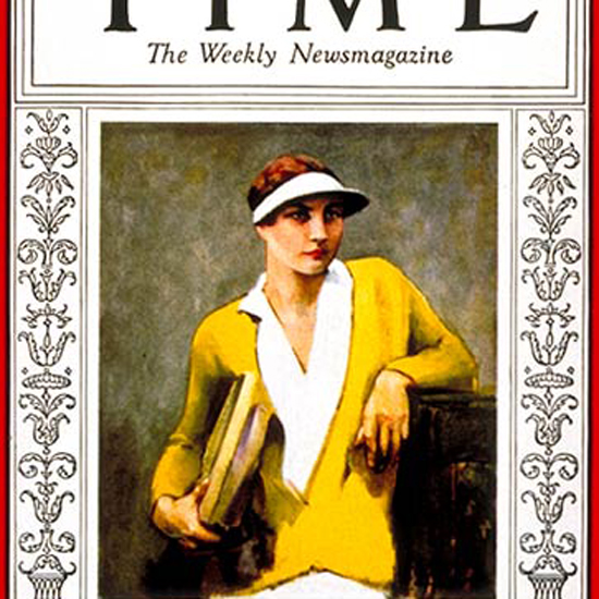 Helen Wills Time Magazine 1929-07 crop | Best of 1920s Ad and Cover Art