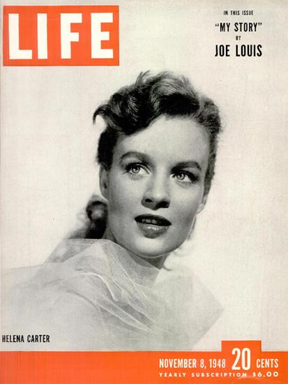 Helena Carter 8 Nov 1948 Copyright Life Magazine | Life Magazine BW Photo Covers 1936-1970