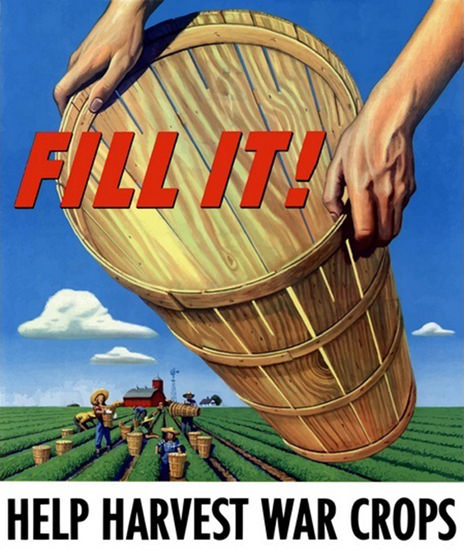 Help Harvest War Crops Fill It Fram | Vintage War Propaganda Posters 1891-1970