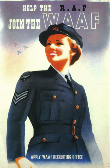 Help The RAF Join The WAAF | Vintage War Propaganda Posters 1891-1970