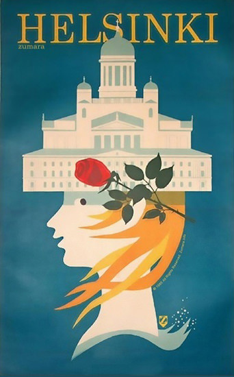 Helsinki Girl | Vintage Travel Posters 1891-1970