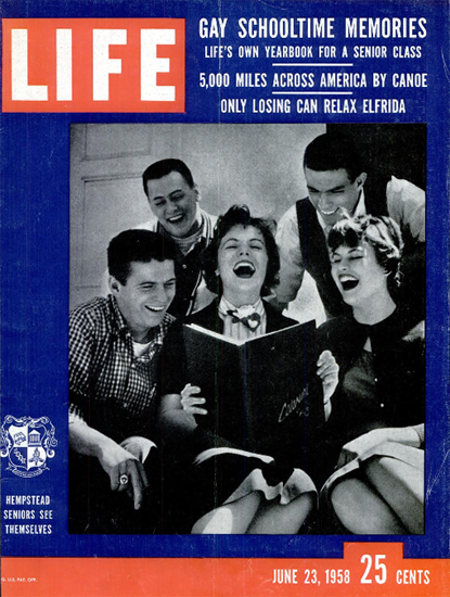 Hempstead Seniors see themselves 23 Jun 1958 Copyright Life Magazine | Life Magazine Color Photo Covers 1937-1970