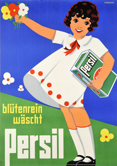 Henkel Persil Bluetenrein 1933 Washing Powder | Vintage Ad and Cover Art 1891-1970