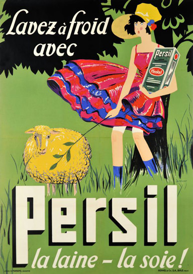 Henkel Persil  Lavez Froid 1927 Washing Powder | Vintage Ad and Cover Art 1891-1970