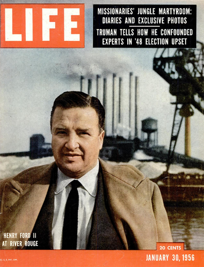 Henry Ford II at River Rouge 30 Jan 1956 Copyright Life Magazine | Life Magazine Color Photo Covers 1937-1970