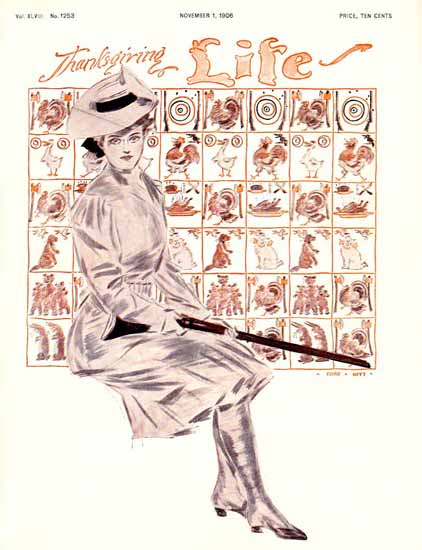Henry Hutt Life Humor Magazine 1906-11-01 Copyright | Life Magazine Graphic Art Covers 1891-1936