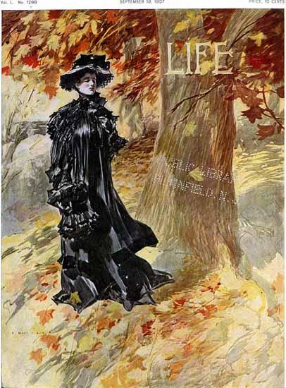 Henry Hutt Life Humor Magazine 1907-09-19 Copyright | Life Magazine Graphic Art Covers 1891-1936