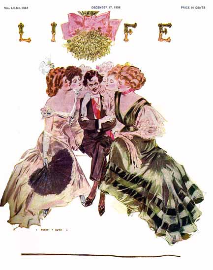 Henry Hutt Life Humor Magazine 1908-12-17 Copyright | Life Magazine Graphic Art Covers 1891-1936