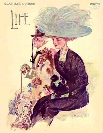 Henry Hutt Life Humor Magazine 1909-09-09 Copyright | Life Magazine Graphic Art Covers 1891-1936