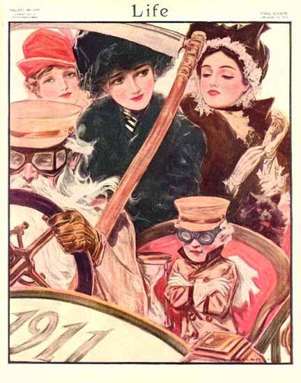 Henry Hutt Life Humor Magazine 1911-01-12 Copyright | Life Magazine Graphic Art Covers 1891-1936