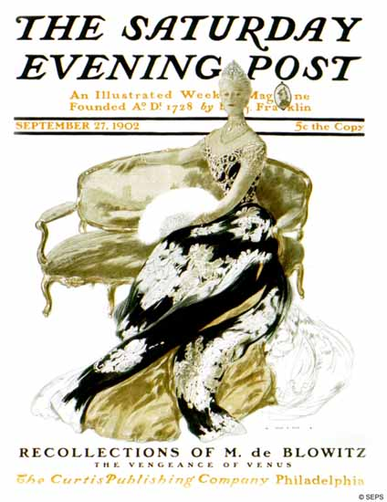 Henry Hutt Saturday Evening M de Blowitz 1902_09_27 | The Saturday Evening Post Graphic Art Covers 1892-1930
