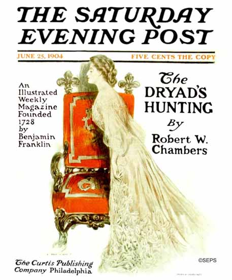 Henry Hutt Saturday Evening Post Cover Art 1904_06_25 | The Saturday Evening Post Graphic Art Covers 1892-1930