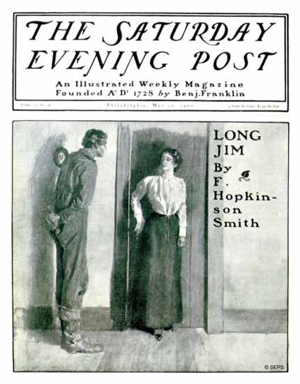 Henry Hutt Saturday Evening Post Long Jim 1900_05_12 | The Saturday Evening Post Graphic Art Covers 1892-1930