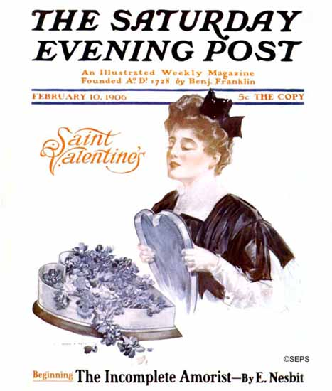 Henry Hutt Saturday Evening Post Saint Valentines 1906_02_10 | The Saturday Evening Post Graphic Art Covers 1892-1930