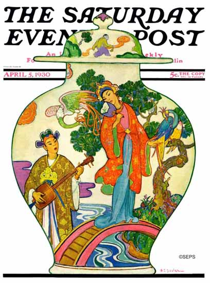 Henry J Soulen Saturday Evening Post Cover 1930_04_05 | The Saturday Evening Post Graphic Art Covers 1892-1930