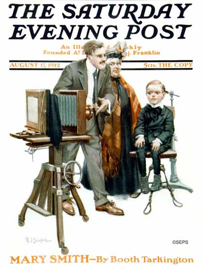 Henry J Soulen Saturday Evening Post Cover Art 1912_08_17 | The Saturday Evening Post Graphic Art Covers 1892-1930