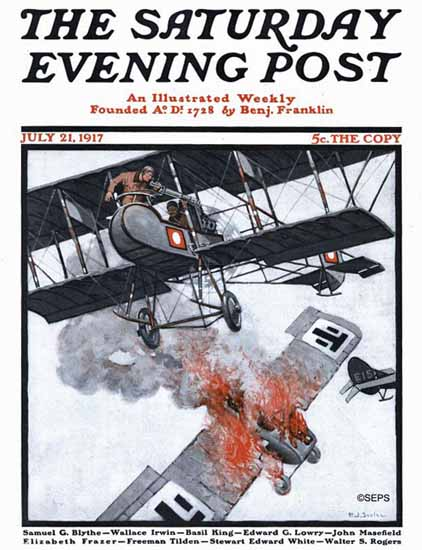 Henry J Soulen Saturday Evening Post Cover Art 1917_07_21   The Saturday Evening Post Graphic Art Covers 1892-1930