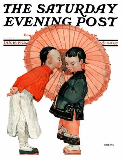 Henry J Soulen Saturday Evening Post Cover Art 1926_01_16 | The Saturday Evening Post Graphic Art Covers 1892-1930