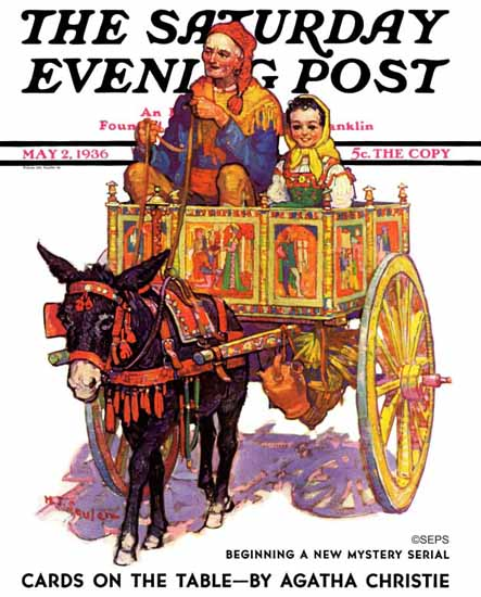 Henry J Soulen Saturday Evening Post Gypsy Wagon 1936_05_02 | The Saturday Evening Post Graphic Art Covers 1931-1969
