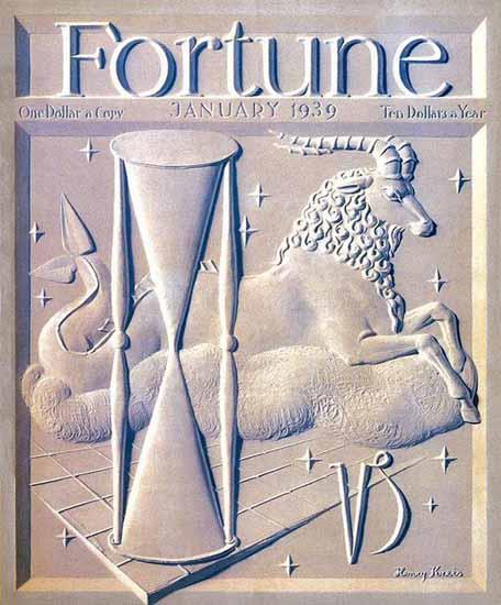 Henry Kreis Fortune Magazine January 1939 Copyright | Fortune Magazine Graphic Art Covers 1930-1959