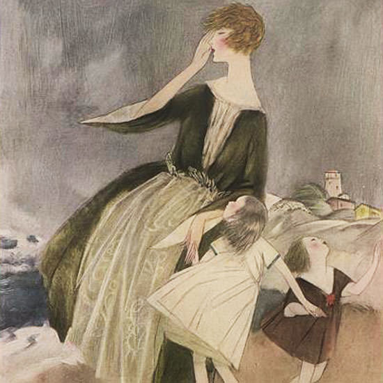 Henry R Sutter Vogue Cover 1922-08-15 Copyright crop | Best of 1920s Ad and Cover Art