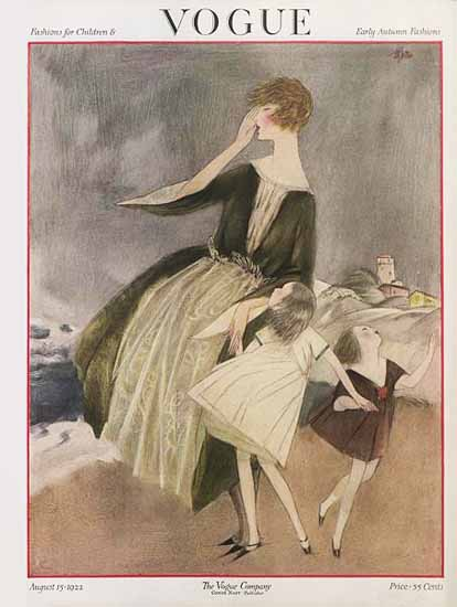 Henry R Sutter Vogue Cover 1922-08-15 Copyright | Vogue Magazine Graphic Art Covers 1902-1958