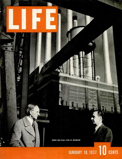 Henry and Edsel Ford 18 Jan 1937 Copyright Life Magazine | Life Magazine BW Photo Covers 1936-1970