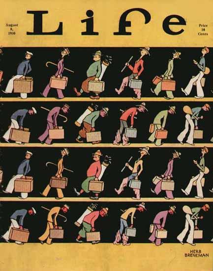 Herb Breneman Life Humor Magazine 1930-08-08 Copyright | Life Magazine Graphic Art Covers 1891-1936