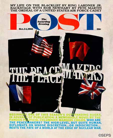 Herb Lubalin Saturday Evening Post The Peacemakers 1961_10_14 | The Saturday Evening Post Graphic Art Covers 1931-1969