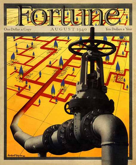 Herbert Bayer Fortune Magazine August 1940 Copyright   Fortune Magazine Graphic Art Covers 1930-1959