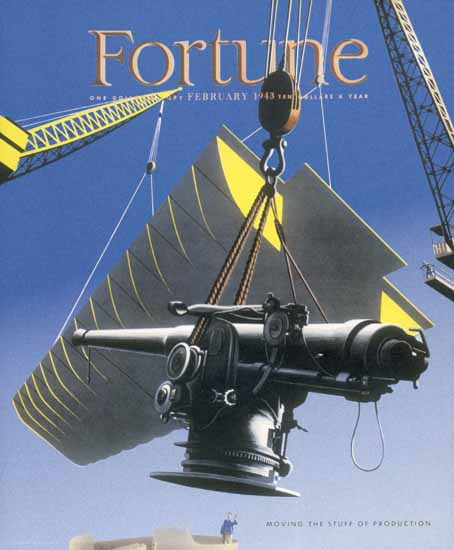 Herbert Bayer Fortune Magazine February 1943 Copyright | Fortune Magazine Graphic Art Covers 1930-1959